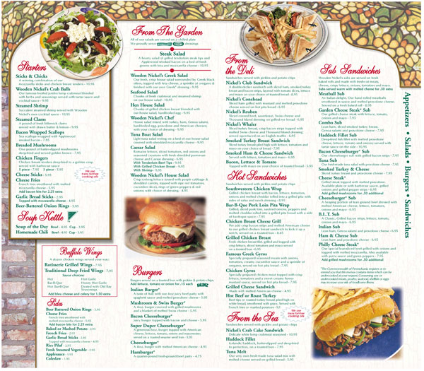 Click to View/download pdf menu